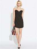 olcso Női ruhák-Női Klub Alkalmi Utcai sikk Bodycon Ruha - Nyitott hátú Háló, Kollázs Mini V-alakú