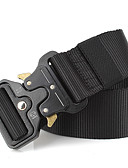 cheap Fashion Belts-Men's Work Alloy Waist Belt - Solid Colored