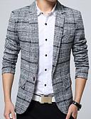 ieftine Blazer & Costume de Bărbați-Bărbați Blazer Plisat Bumbac