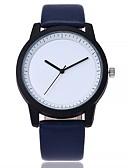 preiswerte Quartz-Damen Quartz Armbanduhr Chinesisch Großes Ziffernblatt Echtes Leder Band Freizeit Modisch Schwarz Blau Braun Grau Beige Kleegrün