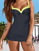 cheap Women's Swimwear & Bikinis-Women's Strap Red Pink Yellow Bikini Swimwear - Solid Colored XXXL 4XL XXXXXL