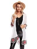 preiswerte Damen Pullover-Damen Ausgehen Street Schick Lang Strickjacke - Solide Blumen Geometrisch, Spitze Blume Ständer