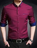 povoljno Muške košulje-Majica Muškarci - Posao / Ulični šik Rad Color block Slim / Dugih rukava