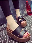 preiswerte Damen Kleider-Damen Schuhe PU Sommer Komfort Slippers & Flip-Flops Walking Flacher Absatz Geschlossene Spitze Weiß / Schwarz