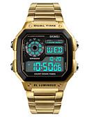 ieftine Ceasuri Digitale-Bărbați Ceas Sport Ceas de Mână Ceas digital Japoneză Piloane de Menținut Carnea 50 m Rezistent la Apă Alarmă Calendar Oțel inoxidabil Bandă Piloane de Menținut Carnea Casual Negru / Argint -