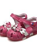 זול סוודרים וקרדיגנים לגברים-בנות נעליים עור קיץ נוחות / צעדים ראשונים סנדלים ריינסטון / פפיון ל לבן / אפרסק / ורוד