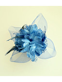 cheap Women's Headpieces-Feather / Fabric / Polyester Flowers with Flower 1pc Wedding / Special Occasion Headpiece