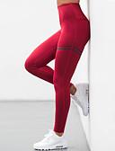 baratos Calças Femininas-Mulheres Esportes Esportivo Legging - Sólido Cintura Alta / Primavera / Outono / Look Esportivo / Skinny