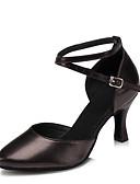 olcso Női ruhák-Női Modern cipők Bőr Magassarkúk Személyre szabott sarok Személyre szabható Dance Shoes Fekete / Ezüst / Piros / Otthoni