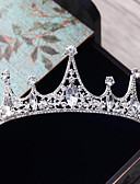 cheap Women's Fur Coats-Alloy Tiaras with Rhinestone Crystal 1pc Wedding Party / Evening Headpiece