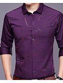זול חולצות לגברים-צבע אחיד סגנון רחוב חולצה - בגדי ריקוד גברים דפוס / שרוול ארוך