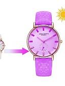 baratos Quartz-Mulheres Relógio de Pulso Japanês Quartzo 30 m Relógio Casual Couro Legitimo Banda Analógico Casual Fashion Branco / Azul / Vermelho - Roxo Vermelho Azul
