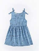 cheap Girls' Dresses-Toddler Girls' Simple Casual / Daily Cat Sleeveless Dress / Cotton