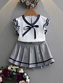 abordables Camisas y Camisetas para Mujer-Conjunto de Ropa Chica Diario Un Color Algodón Fibra de bambú Manga Corta Primavera Casual Blanco