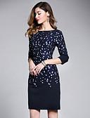 זול חולצה-מעל הברך אחיד - שמלה צינור / נדן בסיסי / סגנון רחוב בגדי ריקוד נשים