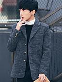 cheap Men's Jackets & Coats-Men's Simple Cotton Coat - Solid Colored / Long Sleeve