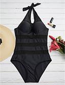 preiswerte Bikinis und Bademode 2017-Damen Einteiler Solide Halter