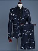 זול טישרטים לגופיות לגברים-שחור L XL XXL חליפות סגנון רחוב פרחוני חוף / שרוול ארוך / אביב / עבודה