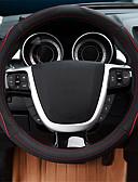 billige Truser-Rattovertrekk til bilen ekte lær 38 cm Blå / Rød / Beige Til Ford Focus / Escort / Mondeo Alle år