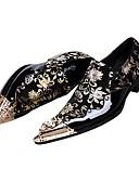 ieftine Bolerouri de Nuntă-Pantofi Piele Primăvară Toamnă Pantofi formale Noutăți Oxfords pentru Nuntă Party & Seară Negru și Auriu