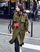 preiswerte Damenmäntel und Trenchcoats-Damen - Solide Mantel, V-Ausschnitt überdimensional