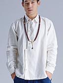 preiswerte Herrenhemden-Herrn Solide Hemd Leinen