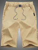 povoljno Muške duge i kratke hlače-Muškarci Za sport i van Pamuk Chinos Hlače Jednobojni