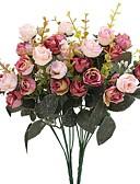 ieftine Női hálóruha-Flori artificiale 2 ramură Pastoral Stil Trandafiri Față de masă flori