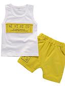 tanie Zestawy ubrań dla chłopców-Brzdąc Dla chłopców Na co dzień Nadruk Bez rękawów Komplet odzieży