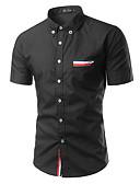 זול טישרטים לגופיות לגברים-אחיד צווארון חולצה יום יומי יומי חולצה גברים,קיץ שרוול ארוך פוליאסטר