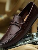 hesapli Gelinlikler-Erkek Ayakkabı Nappa Leather Kış Sonbahar Dalış Ayakkabıları Makosenler Mokasen & Bağcıksız Ayakkabılar Düğün Günlük için Siyah Kahverengi