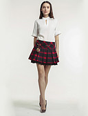 זול חולצה-אחיד - חצאיות כותנה עפרון / צינור בגדי ריקוד נשים