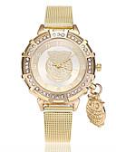 זול קווארץ-בגדי ריקוד נשים שעון יד קווארץ זהב חיקוי יהלום אנלוגי נשים יום יומי אופנתי - זהב