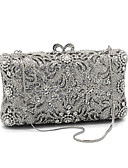 cheap Historical & Vintage Costumes-Women's Crystals Evening Bag Rhinestone Crystal Evening Bags Glasses / Metal Floral Print Silver