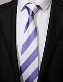 رخيصةأون ربطات العنق للرجال-ربطة العنق مخطط كاجوال للرجال