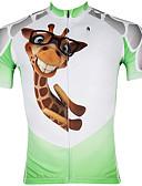 preiswerte Damen Schals-ILPALADINO Herrn Kurzarm Fahrradtrikot - Weiß / Grün Giraffe Fahhrad Trikot / Radtrikot Oberteile, Rasche Trocknung UV-resistant Reißverschluß vorne, Frühling Sommer, 100% Polyester / Atmungsaktiv