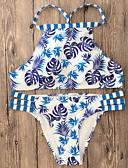זול 2017ביקיני ובגדי ים-מכנס ארט דקו, דפוס - ביקיני בגדי ריקוד נשים