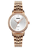 cheap Quartz Watches-SKMEI Women's Wrist Watch Japanese Water Resistant / Water Proof / Casual Watch / Imitation Diamond Stainless Steel Band Luxury / Casual / Fashion Silver / Rose Gold / One Year