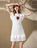 preiswerte Damen Kleider-Damen A-Linie Kleid - Blume, Solide