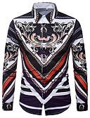 זול חולצות לגברים-גיאומטרי צווארון רחב רזה חולצה - בגדי ריקוד גברים דפוס