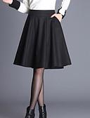preiswerte Damen Röcke-Damen Ausgehen Baumwolle A-Linie Röcke - Solide / Winter