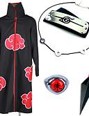 tanie Koszulki i tank topy męskie-Zainspirowany przez Naruto Akatsuki / Itachi Uchiha Anime Kostiumy cosplay Garnitury cosplay / Akcesoria Cosplay Anime Płaszcz / Więcej akcesoriów / Broń Na Męskie / Damskie