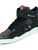 זול טישרטים לגופיות לגברים-נעליים PU סתיו נוחות נעלי ספורט ל קזו'אל שחור שחור לבן שחור אדום כתום ושחור