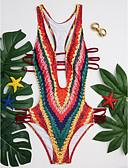 זול ביקיני ובגדי ים-S M L דפוס פסים, בגדי ים מונוקיני נועזת קשת צלילה צְלִילָה בגדי ריקוד נשים