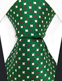 cheap Men's Ties & Bow Ties-Men's Party Work Rayon Necktie - Polka Dot Color Block Jacquard
