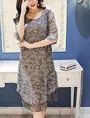cheap Women's Dresses-Women's Going out Maxi A Line Dress Print Spring Cotton Blue Red Gray L XL XXL