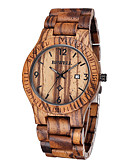 cheap Luxury Watches-Men's Wrist Watch Unique Creative Watch Wood Watch Japanese Quartz 30 m Water Resistant / Water Proof Calendar / date / day Wood Band Analog Luxury Brown - Brown Two Years Battery Life