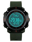 זול שעוני ילדים-SKMEI לזוג שעוני ספורט שעון יד דיגיטלי 50 m עמיד במים לוח שנה מד צעדים PU להקה דיגיטלי פאר יום יומי אופנתי שחור / אפור / תלתן - אדום ירוק כחול / מצפן / שעון עצר