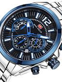 זול שעוני יוקרה-MINI FOCUS בגדי ריקוד גברים שעון יד Japanese קווארץ כסף לוח שנה שעון עצר שעונים יום יומיים אנלוגי פאר יום יומי - שחור פוקסיה כחול / מתכת אל חלד