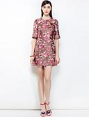 זול שמלות נשים-דפוס, פרחוני - שמלה גזרת A בוהו בגדי ריקוד נשים